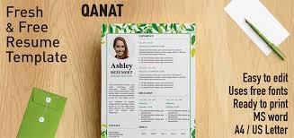 Resume Templates Word Free Qanat Floral Resume Template