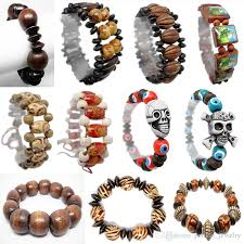 bead bracelet styles images Wooden bead bracelet 69 styles mix stretch adjustable strands jpg