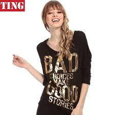 gold blouse plus size black novelty gold letters print back hollow out t shirt