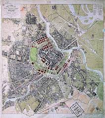 Vienna Map The Enlargement Of Vienna From 1850