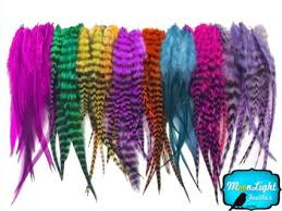 moonlight feathers buy moonlight feather hair extension feathers purple thick