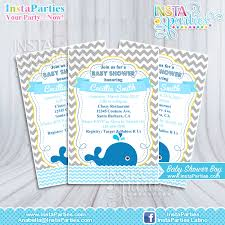 whale baby shower whale baby invitations shower boy invitation whale sea blue
