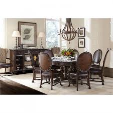Casa DOnore RoundOval Pedestal Dining Table Set By Stanley - Stanley dining room furniture