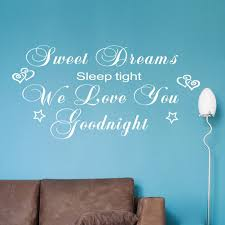 sweet dreams sleep tight quote wall stickers decal wall stickers home decor nursery wall quotes sweet dreams sleep tight quote wall stickers decal