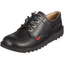 womens kickers boots amazon com kickers kick lo black leather unisex lace up
