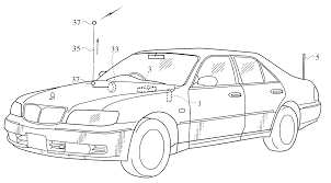 wrecked car drawing patent us6732020 accident notification system for vehicle