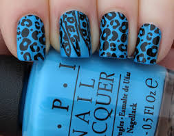 quickie konad manicure blue leopard nails lindsey u0027s lacquer