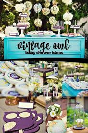 owl baby shower ideas vintage owl themed boy s baby shower spaceships and laser beams