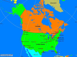 The United States And Canada Political Map by North America Political Map A Learning Family