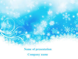 snowflake powerpoint template christmas ppt background powerpoint