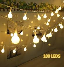 Patio Christmas Lights by 100 Led Globe String Lights Ball Christmas Lights Indoor
