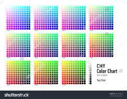 Cmyk Spectrum Cmyk Press Color Chart Stock Vector 343942829 Shutterstock