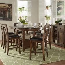 Dining Room Table With Wine Rack Tuscany Brown Wood Wine Rack Counter Height Extending Dining Table