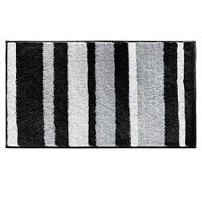Julius Bath Rug Black And White Bathroom Rugs Envialette