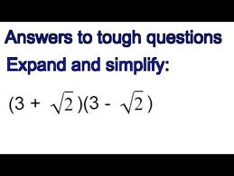 how to expand and simplify surds in brackets gcse exam question