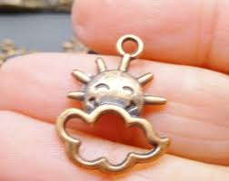 inspirational charms copper sun charm etsy