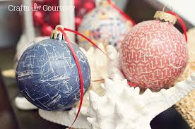 mod podge nautical christmas ornaments