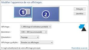 Laffichage De Lcran De Mon Pc Est Renvers Windows 8 1 Connecter Un Deuxième écran Ou Tv Sur Ordinateur