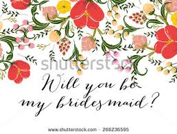 bridesmaid invitation free will you be my bridesmaid card design vector