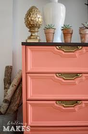 Old Furniture Makeovers Furniture Makeovers Coral Painted Dressers Dresser And Gold Dresser