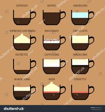 Coffee Drink Set Espresso Doppio Americano Stock Vector 295602104