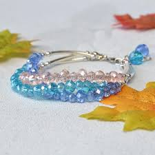 crystal glass beaded three strand bracelet pandahall inspiration