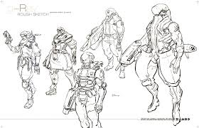 jang wook kim rough sketch for future soldier