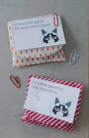 grumpy cat valentines grumpy cat s day favors sahl white