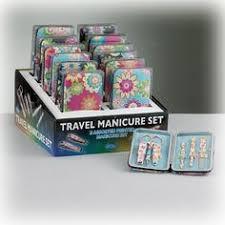 manicure set favors floral design purse hanger set of 6 nuptial knick knacks never