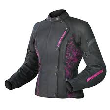 ladies motorcycle jacket dririder vivid ladies textile jacket black pink online