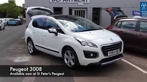 peugeot suv 2014 2014 peugeot 3008 crossover 1 6 hdi 115 fap allure vo64 hbk at st
