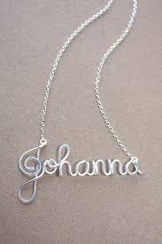 wire name necklace custom wire name necklace solid sterling silver 925