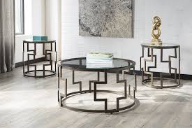 signature design by ashley end table amazon com ashley frostine 3 piece coffee table set in dark bronze