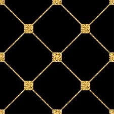 rhombus seamless pattern gold glitter and black template