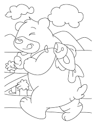 fish disturbing bear coloring pages download free fish