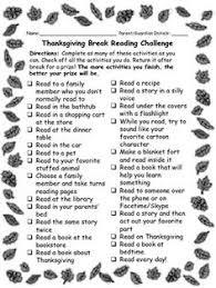 school reading challenge thanksgiving winter edition