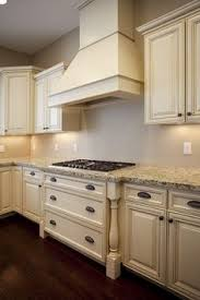 How To Distress Kitchen Cabinets by Antique White Kitchen Cabinets After Glazing Jpg Home Living