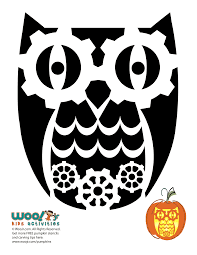 owl pumpkin carving stencils woo jr kids activities