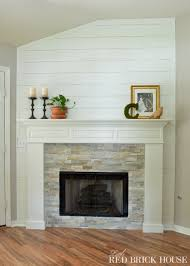 How To Decorate A Living Room With A Red Brick Fireplace Fireplace Makeover Stonework Little Red Brick House