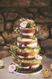 Wedding Cake No Icing Backyard Ocala Wedding Berry Wedding Cake Wedding Cake Rustic