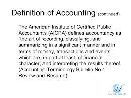 What Is Meaning Of Resume Definition Of Accounting