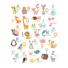 large alphabet wall stickers large alphabet decal promotion for stickerscape ilrated animal alphabet wall sticker set large size kiddicare