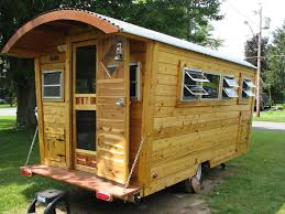 cedar cabin shepherd u0027s hut travel trailer micro house tiny