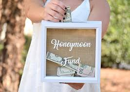 honeymoon essentials gifts honeymoon fund wedding sign honeymoon fund box