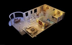 3d luxurious house with designer interior cgtrader