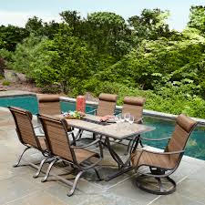 Patio Furniture Dining Sets With Umbrella - patio 7 pc patio dining set home designs ideas