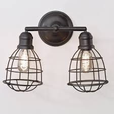 wire cage adjustable sconce 2 light shades light