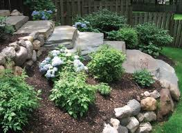 Slope Landscaping Ideas For Backyards How To Landscape A Down Hill Slope In Front Side Yard Google
