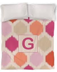 fall savings on thumbprintz batik monogram duvet cover pink