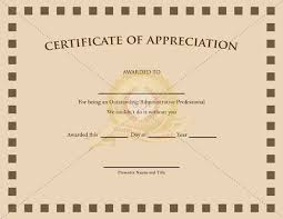 certificate of appreciation template certificate template